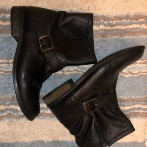 MIA black leather short boots